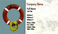 Red Life Preserver Business Card Template